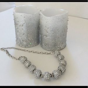Jewelry - Blingy Necklace of 10 Shiny Balls on Chain